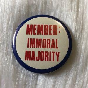 🔮 5/$25 Vintage Member: Immoral Majority Pin